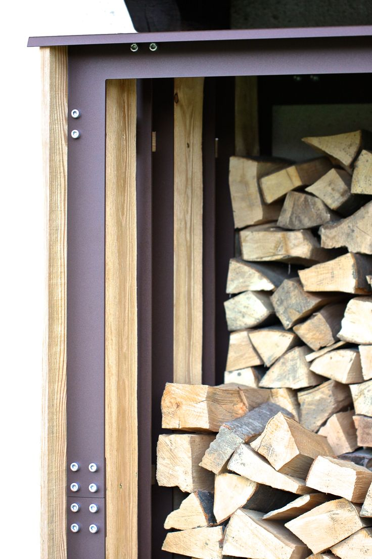 woodshed side detail + firewood