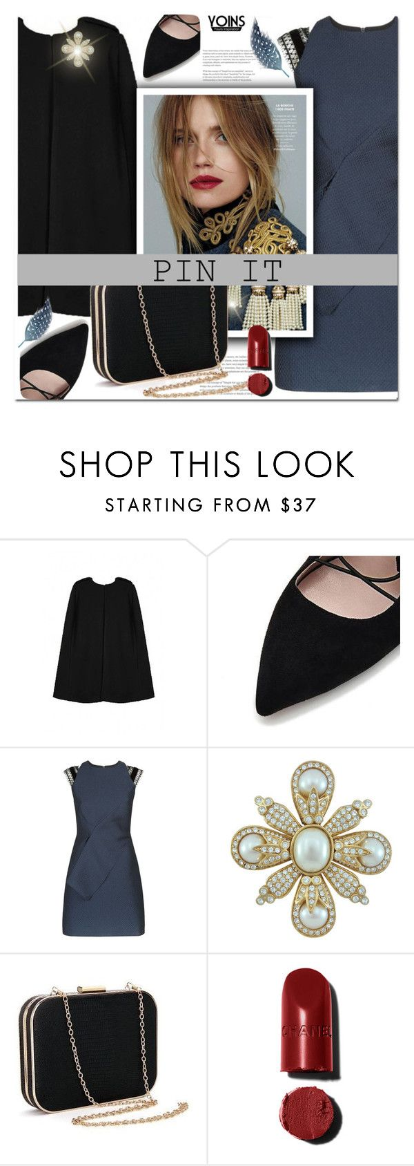 """YOINS(YOUR INSPIRATION)"" by sweta-gupta ❤ liked on Polyvore featuring Roland Mouret, Ciner, pins, yoins, yoinscollection and loveyoins"