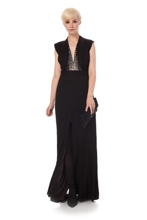 Milo Stretch Maxi Dress - French Connection fitted maxi dress recalls the greatest dresses of a bygone era.