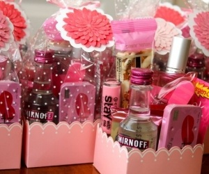 Girl's gift bag for wedding party - can be used for more than weddings maybe?