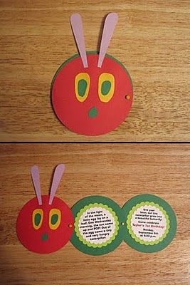 Very hungry caterpillar invites and party ideas