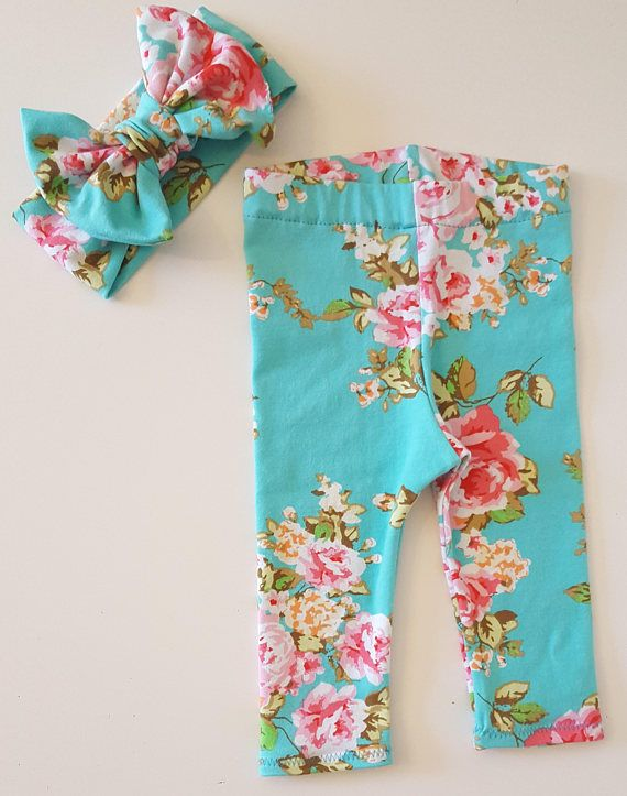 little bitty britches - baby leggings - floral baby clothes - coming home - baby girl