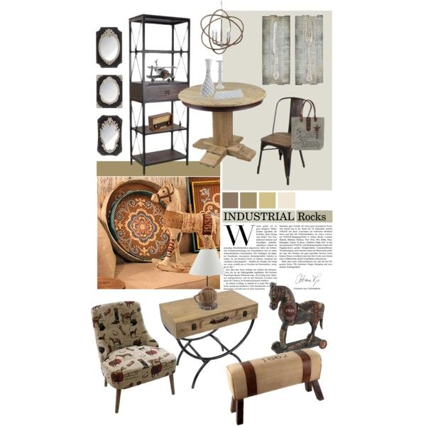 """""""inart - Loft Style - INDUSTRIAL Rocks"""" by inart on Polyvore"""