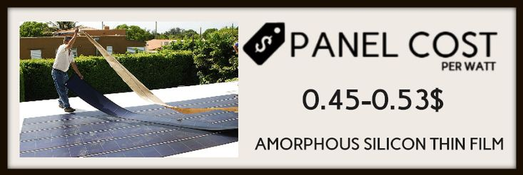 Amorphous silicon thin film ( solar panels cost image-3)