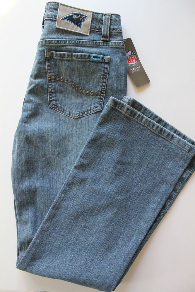 NWT Women's Carolina Panthers NFL Team Apparel Cheerleader Boot Jeans Size 6 #NFLTeamApparel #CarolinaPanthers