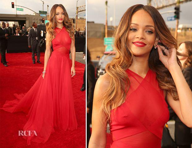 Rihanna In Azzedine Alaia – 2013 Grammy Awards