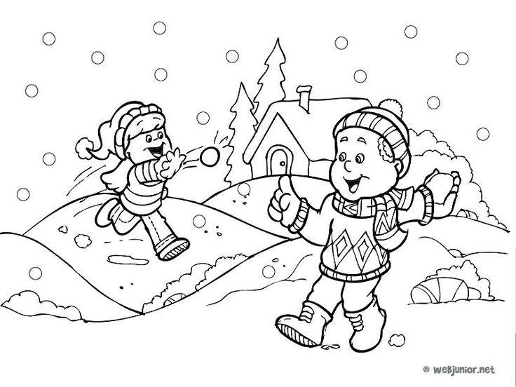 coloriage vive les vacances coloriage bataille de boules de neige coloriage vive les vacances a imprimer