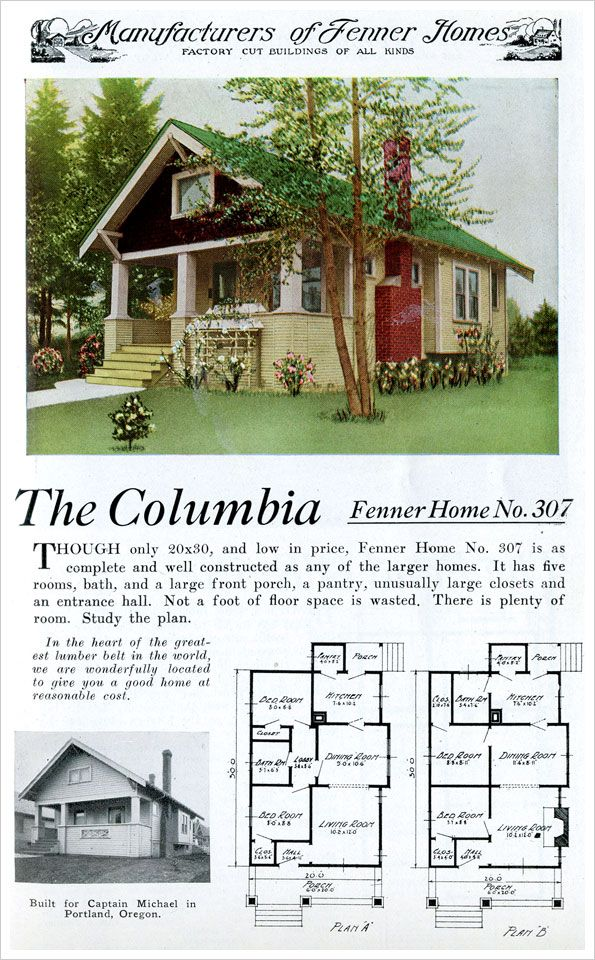 The columbia home plan is typical of the many small for House plan companies