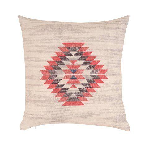 Housse de coussin coton imprimé motifs amérindiens - 3Suisses