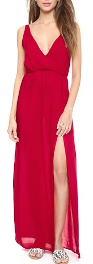 cute high slit maxi dress
