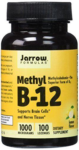 Jarrow Methylcobalamin B12, 1000mcg, 100 Lemon Flavour