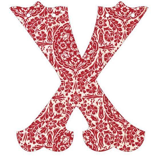 X Fancy Font Wallpaper Letter