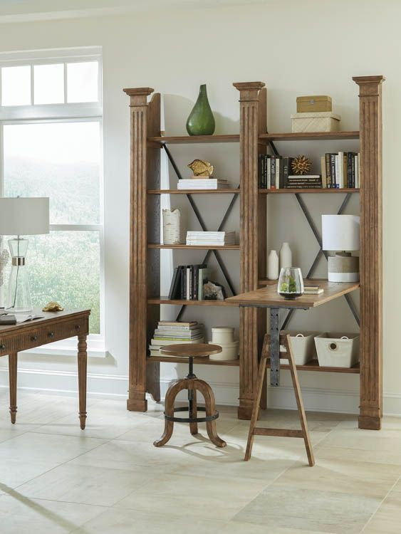 Adjule Desk Bookcase By Riverside