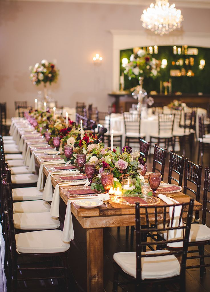 Rachel + Joshua's Moody Romantic Fall Wedding | Photography: Shawn Marie Photography | Floral: Stems of Dallas | Planner: Grit + Gold Weddings | Rentals: Propmaker Luxury Event Rentals | Tables: The Olive Bench Venue: The Milestone Aubrey Mansion & Barn #bridesofnorthtx #wedding #tabletop