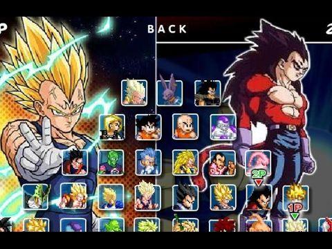 Dragon Ball Fierce Fighting 2.9 - Majin Vegeta vs Vegeta (Super Saiyan 4)