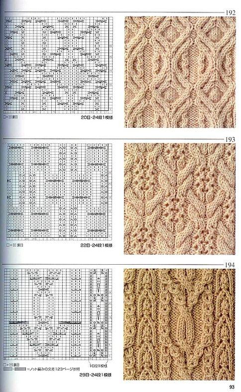 Японская книга узоров (спицы) 192-194