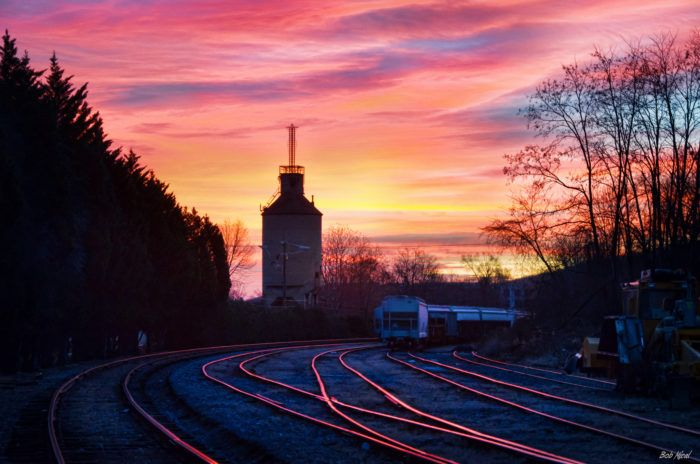 The Cardinal is a a long-distance passenger train operated by Amtrak that runs between New York's Penn Station and Chicago's Union Station. Conveniently, one of the most scenic stretches occurs in the mountains of Virginia.