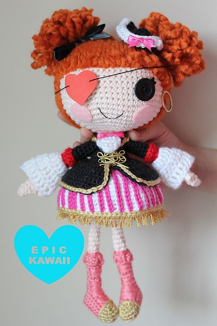 Lalaloopsy Amigurumi Tutorial : LALALOOPSY Peggy Seven Seas Crochet Amigurumi Doll pattern ...