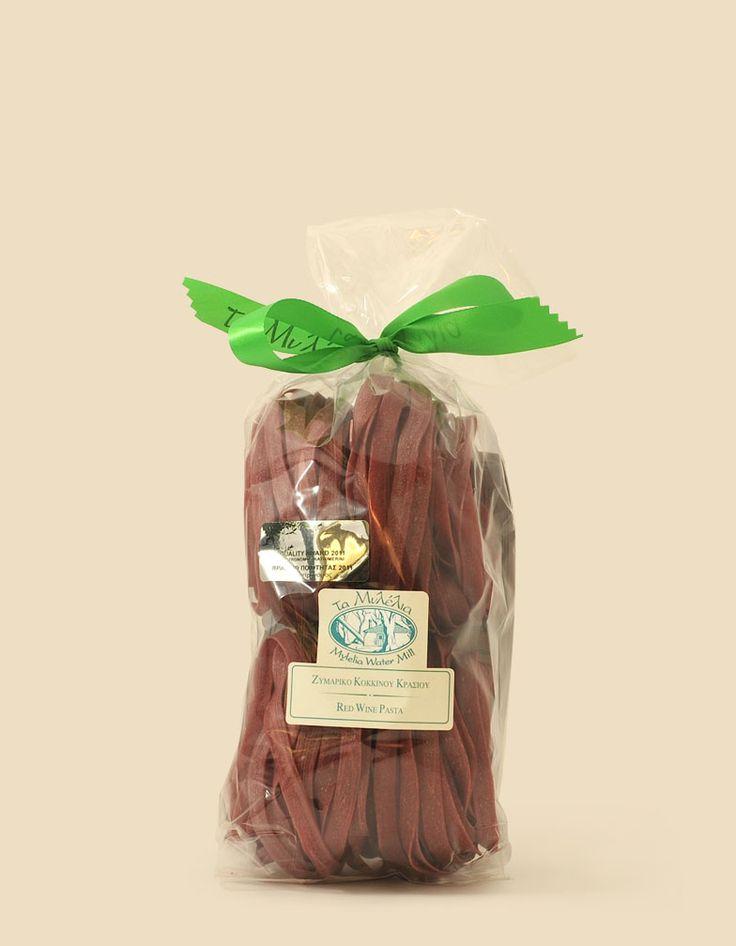 Red Wine Fettuccine Twirls  #Mylelia #WinePasta #HandmadePasta #FlavouredPasta #GreekProducts