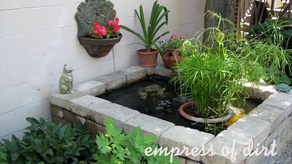 90 best small koi ponds images on pinterest backyard for 90 gallon pond liner