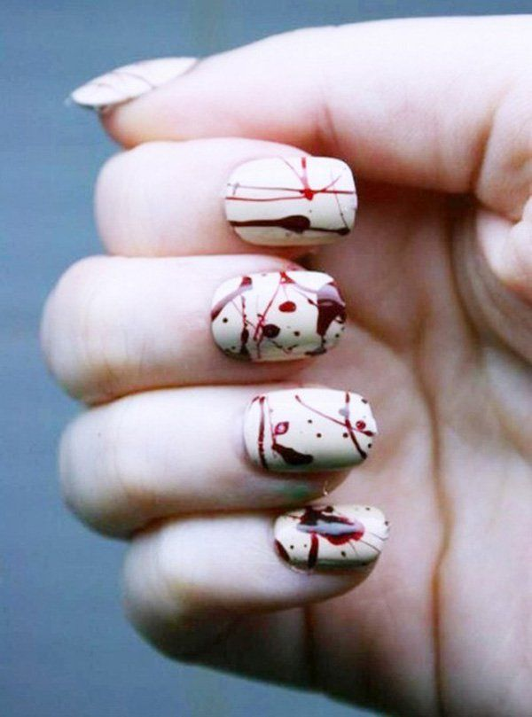 Halloween nail art - 45 Cool Halloween Nail Art Ideas  <3 <3 Love it! I wonder how they accomplished this!