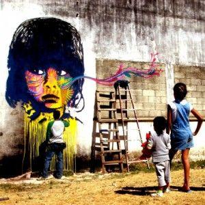 Stinkfish est un jeune mec de Bogota, Colombie, qui redonne vie aux rues de la ville.