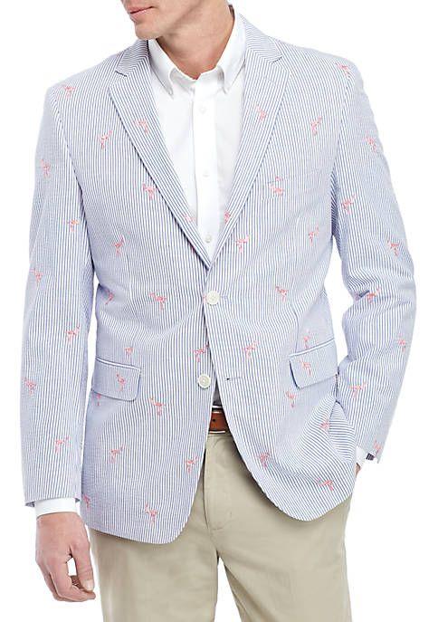 60514fa88ba0 Crown & Ivy™ Flamingo Seersucker Sports Coat in 2019 | Derby Outfits ...