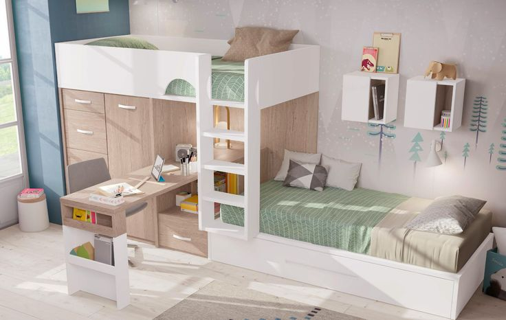 Lit superposé décalé original - GLICERIO - SONUIT #interiordesign #decorideas #modern #design #homedecor #roomdecor #room #chambreenfant