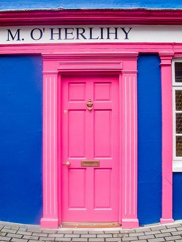 Pink door in Ireland - Photography by R H Kamen via Flickr & 73 best Pink Doors images on Pinterest | Front doors Windows and ... pezcame.com