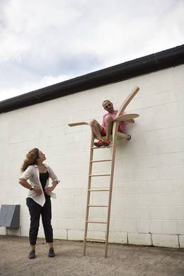 Xenia Mosely and Abe Rogers, The Ladder That Likes The Wall, American red oak, The Wish List, LDF 2014.