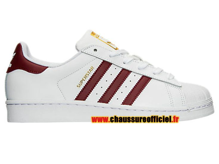 Adidas Superstar Chaussures Adidas Pas Cher Pour Femme Blanc / rouge BY3725