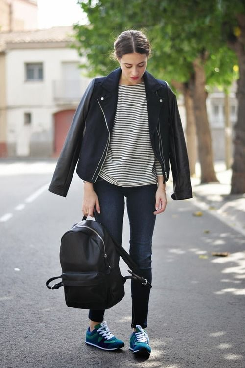 "Pinned from Pinterest user: chicagoinparis From ""Ways to Wear it: The Leather Jacket"" Board. Great fashion tips customized by each article of clothing in your wardrobe."