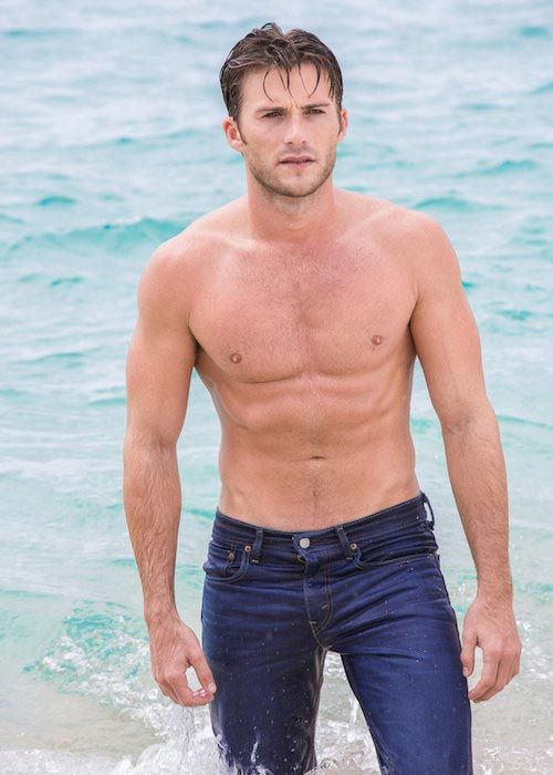 Scott Eastwood shirtless body during a photoshoot in July 2015...
