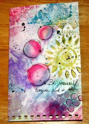 Handmade Art Journal van KikiHalbertDesigns op Etsy