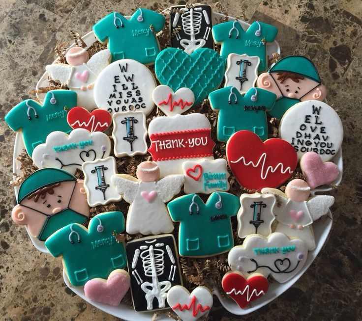 Image result for heart theme cookies for doctor