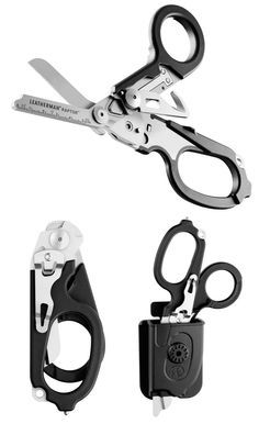 Leatherman Raptor, multitool designed for uniformed medics (contains 420HC stainless steel shears, strap cutter, carbide glass breaker, ring cutter, ruler, oxygen tank wrench)