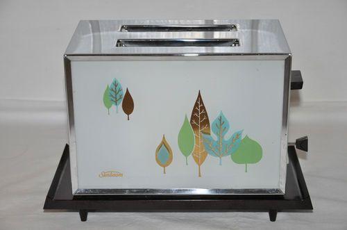 Vintage Sunbeam Toaster Glass at A Chrome Bakelite 50's 60's Midcentury Modern | eBay