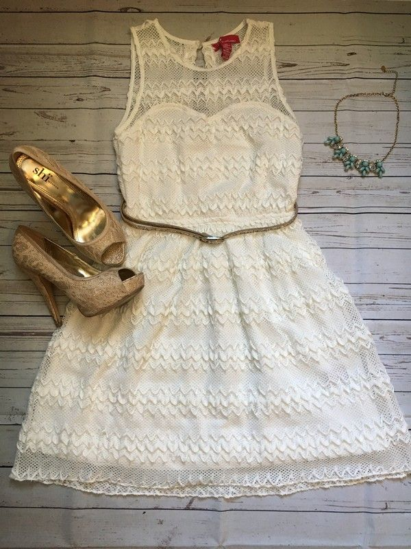 db7b719a8c1 White Dress - Beautiful well-loved dress in perfect condition that still  looks new! Perfect to wear at a wedding or any formal even…