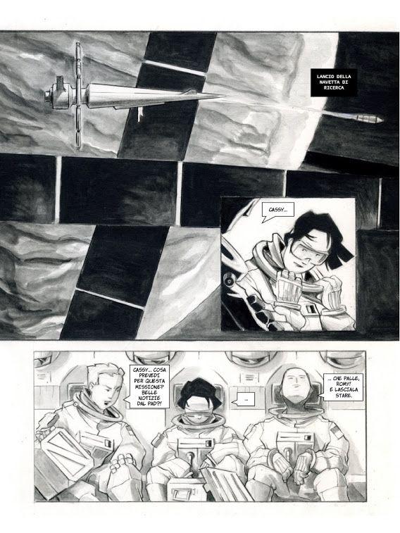 Parallasse - tavola da un fumetto di fantascienza