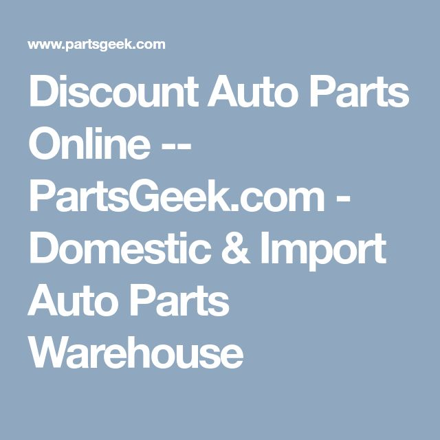 Best 25 Discount auto parts online ideas on Pinterest