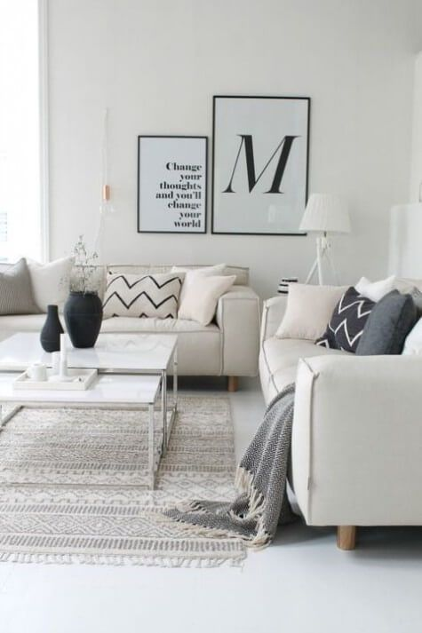 77 Gorgeous Examples Of Scandinavian Interior Design. Plaid Living  RoomLiving Room ModernMonochromatic ...
