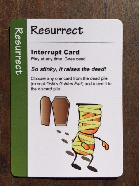 Fart Juice Cards. Resurrect card.