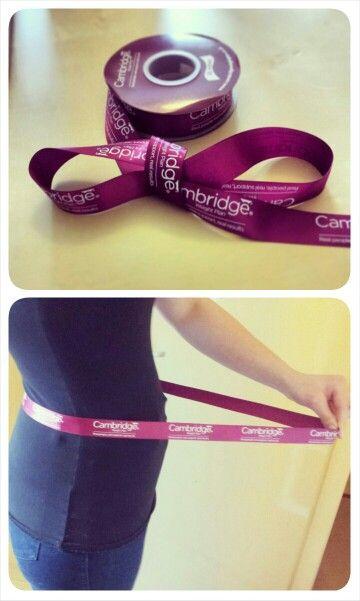 Cambridge Ribbon. A visual aid to see your progress #CambridgeWeightPlan