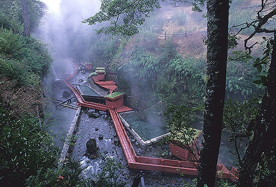 geometric hot springs, chile