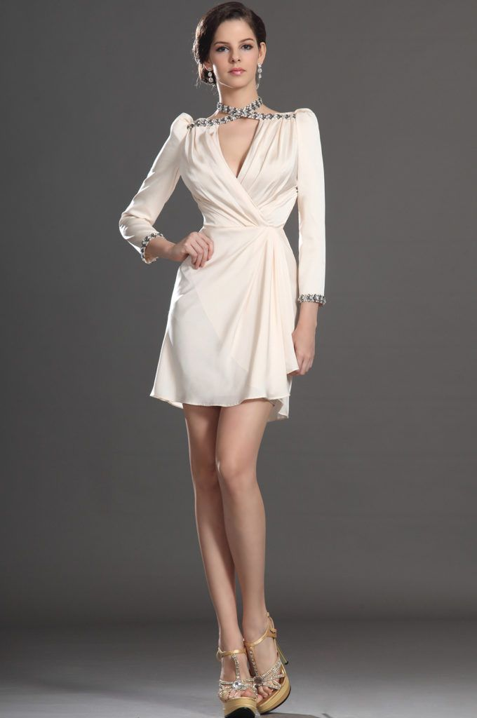 Long Sleeves Elegant Cocktail Dresses