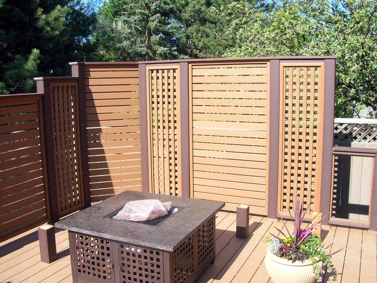 Mur intimit patio pinterest for Bois pour mur exterieur