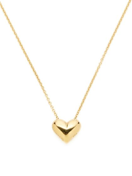 Tiffany Amp Co Gold Puffed Heart Pendant Necklace My