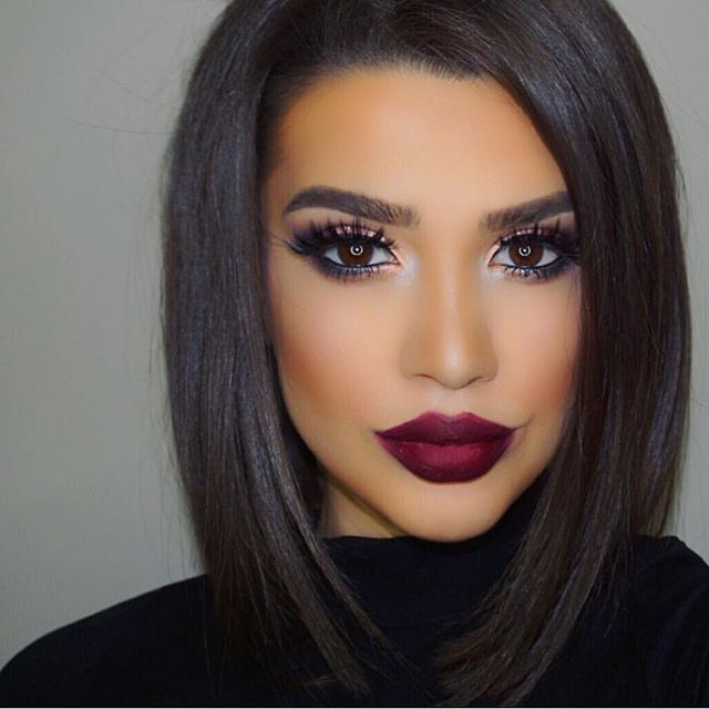 Gorgeous glam and dramatic lip love