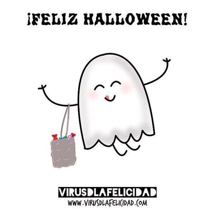Feliz noche de Halloween   www.virusdlafelicidad.com  #halloween #felizhalloween #virusdlafelicidad #fantasma #boo #spooky #felicidad