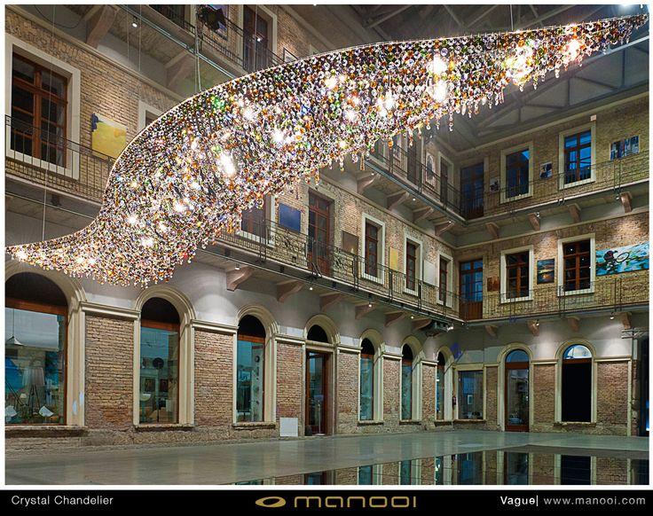 Vogue crystal chandelier #Manooi #Chandelier #CrystalChandelier #Design #Lighting #Vague #luxury #furniture